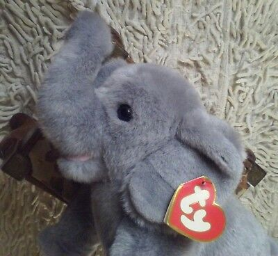 "1989 Ty ELMER ELEPHANT 3rd Gen LONG TRUNK  Large 20"" PLUSH Classic CANADIAN TAG"