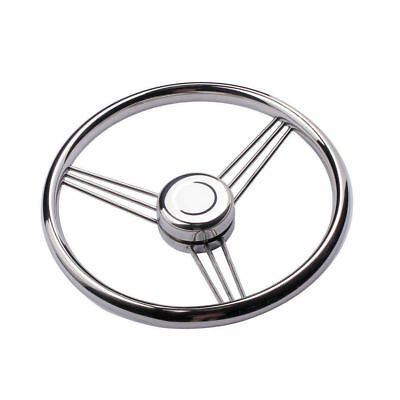 Stainless Steel Boat Steering Wheel 9 Spoke 13-1/2'' Dia for Marine Yacht