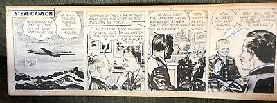 Milton Caniff (1907-1988) Original Comic Strip Art Drawing Steve Canyon 1963
