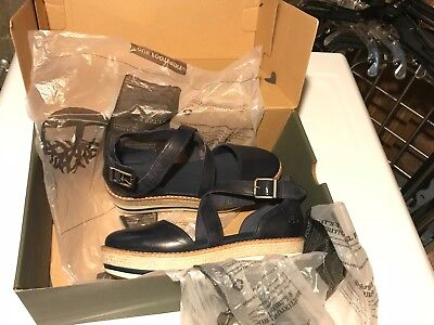 58e28a3857e50 Timberland New With Box Womens Emerson Point Closed Toe Sandals Shoe Navy  Size 7