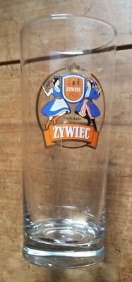 "Zywiec Beer Glass - 0,3l - 6 1/2""Tall with Nice Graphics"