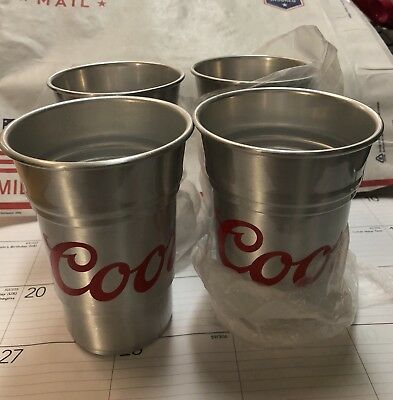 Lot Of 4 Coors Light Cup 22 Oz 35% Recycled Material
