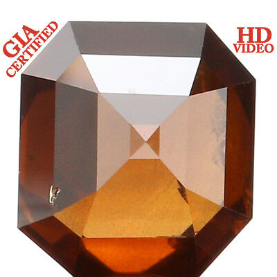 GIA CERTIFIED Natural Loose Diamond Emerald Orangy Brown Color I2 1.59 Ct L2468