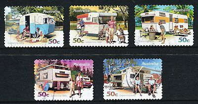 Australian 2007 Caravaning, set of 5 S/A stamps, used