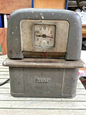 Rare Art Deco Vintage Antique Ibm Clocking In Machine Clock Time Recorder