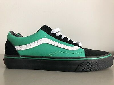 3fa47cad1f MENS AUTHENTIC VANS CUSTOM GREEN BLACK OLD SKOOL FASHION SNEAKERS (Size 6.5)