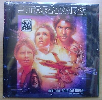 Star Wars 40th Anniversary Official 2018 Calendar: Collectors Edition: NEW