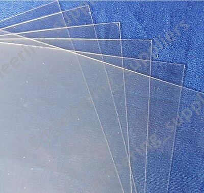 Thin Clear Acetate Plastic Sheet 0.1mm Thick A6 A5 & A4 - Single, 5 or 10 Pack