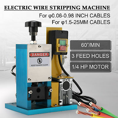 Electric Wire Stripping Machine Portable Cable Stripper for Copper Recycling