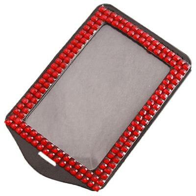 Good Rhinestone Bling Crystal Vertical ID Card Badge Holder Without Lanyard