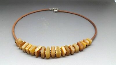 Beautiful Genuine Baltic Amber Necklace for Woman Raw/Unpolished
