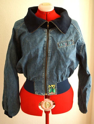 Damen Jeans Jacke Lee blau blue 80er True VINTAGE 80´s women Fledermausärmel