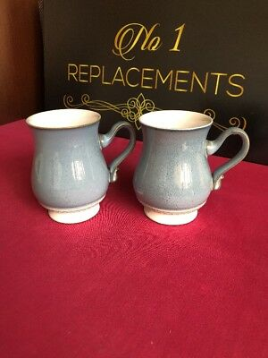 2 x Denby Castile Footed Mugs