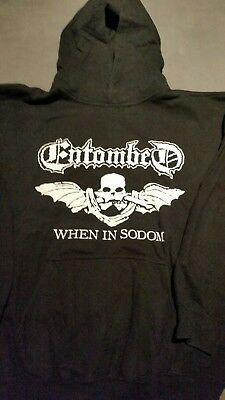 Entombed Hoodies When in Sodom☆Left Hand Path