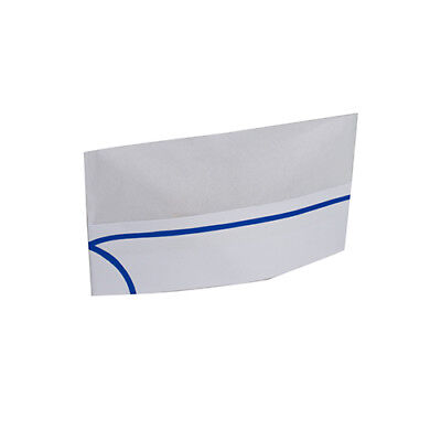 Royal Blue Stripe Overseas White Chefs Caps/Hats, Case of 1000, RPOS1
