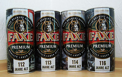 # RARE # 4x FAXE COLLECTORS ITEM 2017 # 112 / 113 / 114 & 116 YEARS # ( EMPTY )