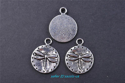 10pcs 20mm charm dragonfly silver Pendant DIY Jewelry Making Fit Necklace 7628