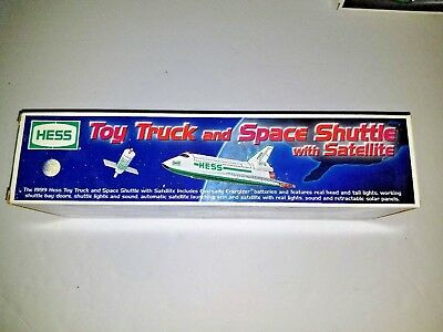 Nib Hess Toy Truck And Space Shuttle With Satellite 1999 Excellent