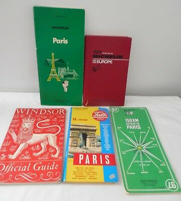 Lot Paris Travel Maps Michelin Europe Vintage Windsor Official Guide