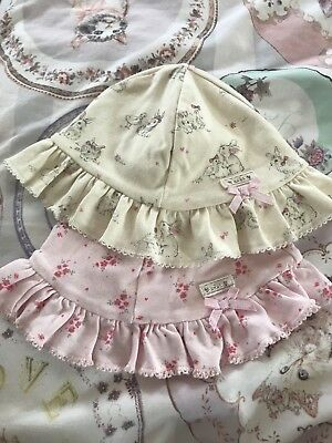 Baby Girl Next Spring Time Bunny Duckling Floral Pretty Sun Hats 6-12 Months