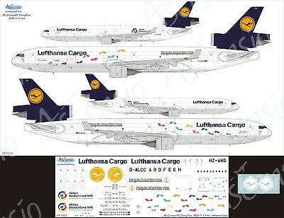 McDonnell Douglas MD-11F 1/144 Lufthansa Cargo decal by Ascensio 011-002