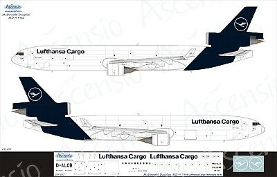 McDonnell Douglas MD-11 1/144 Lufthansa Cargo (NEW) decal by Ascensio 011-017
