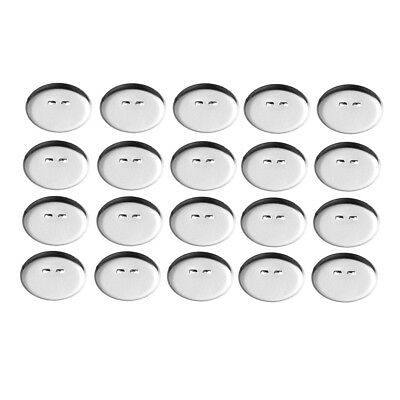 50x Silver Tone Round Cabochon Bezel Tray Brooch Backs Bar Pins Badges 13mm