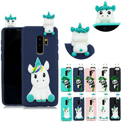 Cute 3D Cartoon Animals TPU Silicone Phone Case Cover For Huawei Xiaomi iPhone