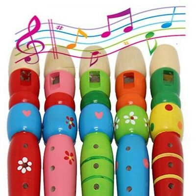 SwirlColor 1 piece 6 Holes Wooden Colourful Clarinet Piccolo Flute Toys