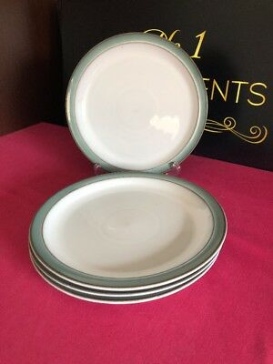 4 x Denby Regency Green Salad Plates 8.5""