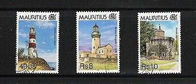 Mauritius -- lighthouses -- 3 diff used from 1995 -- cv $11.75