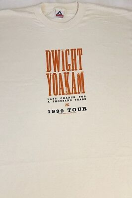 Vintage - DWIGHT YOAKAM Last Chance for a Thousand Years 1999 T - Shirt  - XL