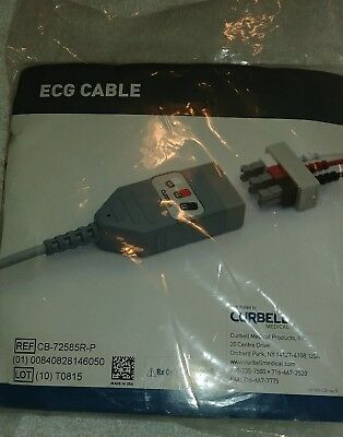 Curell ECG Cable Lead Wires CB-72585R-P New In Sealed Bag Fast Ship