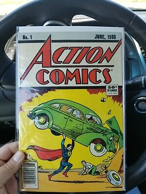 No. 1 ACTION COMICS June 1938 - reprint very fine condition