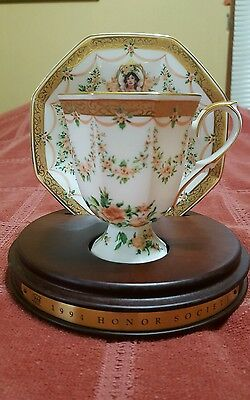Mrs Albee 1994  Avon Honor Society Commemorative Cup and Saucer