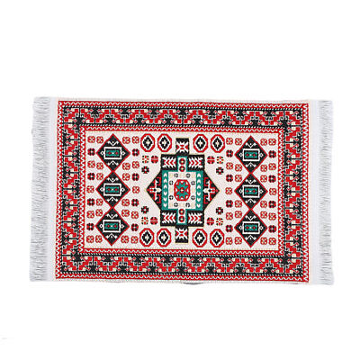 1:12 Miniature Woven Carpet Turkish Rug for Doll House Decoration Accessory #A