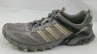 a989d5967b7 Adidas Running Shoes PYV 702001 Womens 9 Med Silver Yellow Sneakers Running  Gray