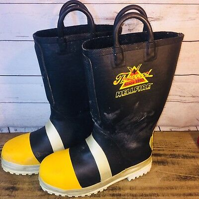 THOROGOOD Hellfire Firefighter Boots Steel Toe Structural Turnout Hazmat 9 Wide