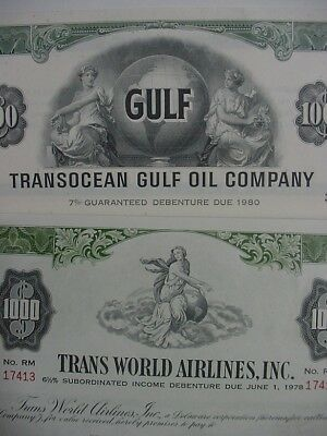 Trans World Airlines, Inc & Transocean Gulf Oil Company Debenture Certificates