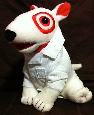 BULLSEYE TARGET DOG PLUSH In PHARMACY LAB COAT
