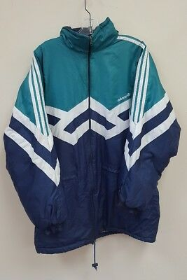 05e69412a Vintage Adidas Insulated Color Block Jacket Size Large Multi-Color