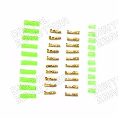 10PCS Motorcycle Bullet Connector Loom Wire Harness Plug Brass 3.9Mm Electrical