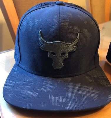 watch 2284e ee876 Under Armour Project Rock Military Camo Snapback Hat (Black Green) UA WWE  Bull