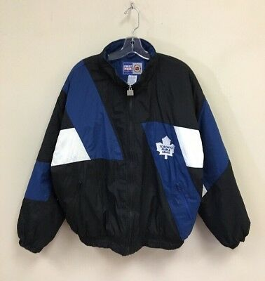 21ad941fe9e Vintage Toronto Maple Leafs First Choice Sports Insulated Jacket Size XL  Blue