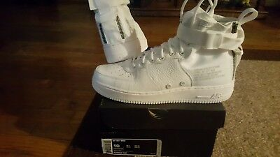2017 NIKE AIR Force 1 SF AF1 Mid QS SZ 11 Triple Ivory
