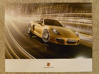 """2013 Porsche Boxster """"The New Boxster"""" Showroom Advertising Sales Poster L@@K"""