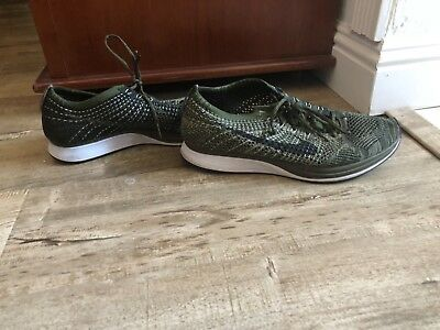 c8966a71da28 NIKE FLYKNIT RACER EARTH TONES ROUGH GREEN OLIVE 862713-300 Size 10 Mens