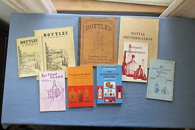 Lot of NINE Different OLD BOTTLE BOOKS from 1964 to 1969 with one from 1973