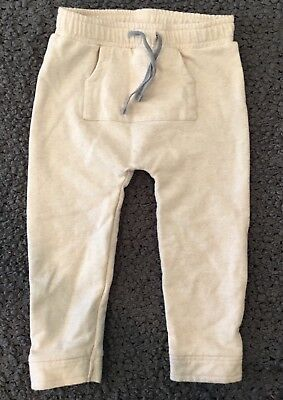 Stem Nordstrom Baby Toddler Unisex Cream Pull On Pants Sweatpants Cozy Size 18 M