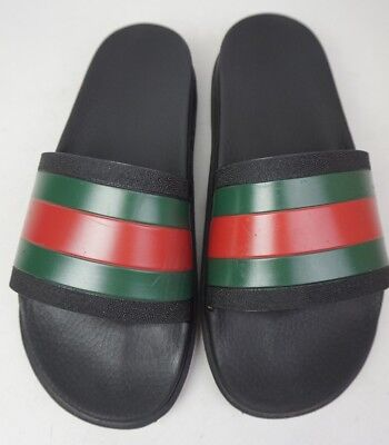 5b348014c GUCCI PURSUIT 72 Slide Men's Black Spa Trek Sandals Size 8 G / 9 US ...
